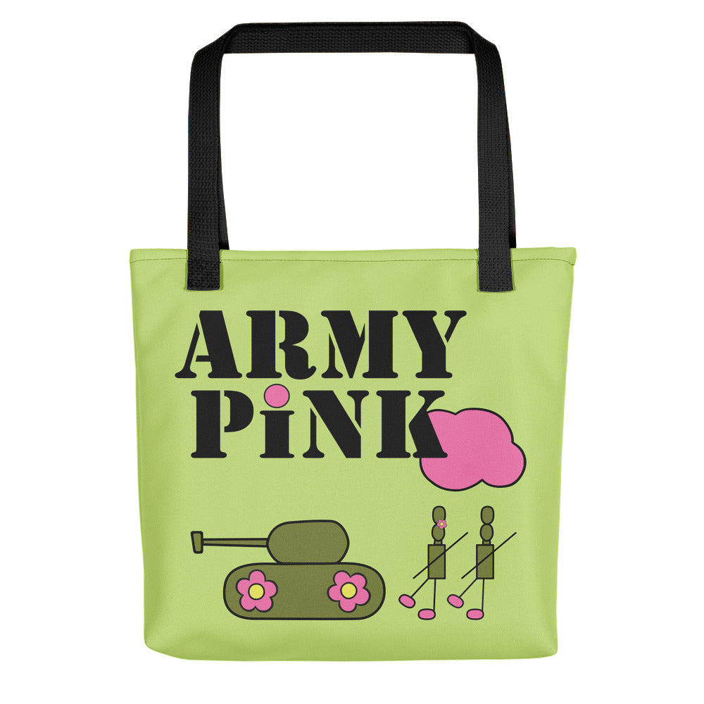 Large Green Logo Beach Bag for 35.00 at ARMY PINK