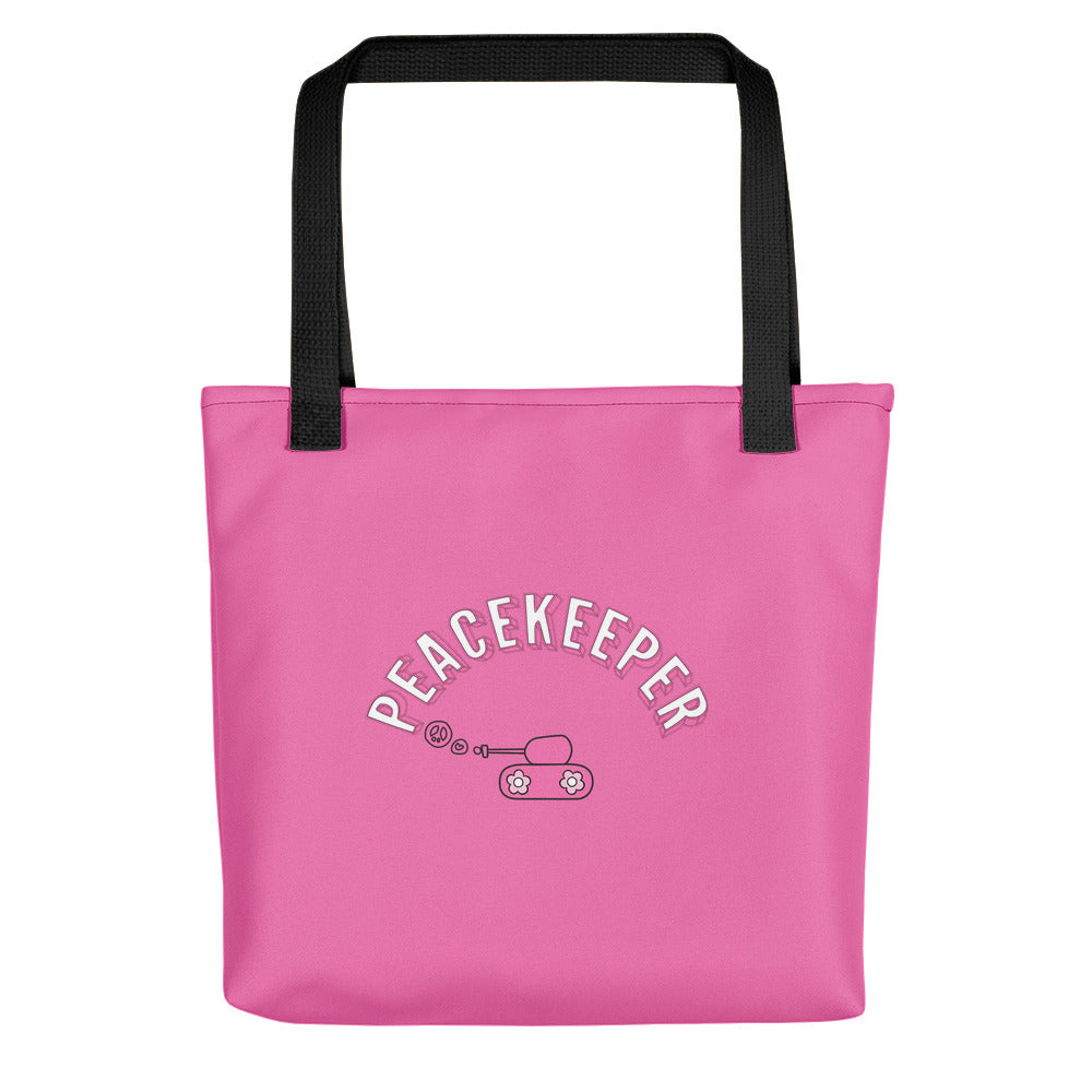 Large Pink Peacekeeper Tote Bag ${product-type) ${shop-name)