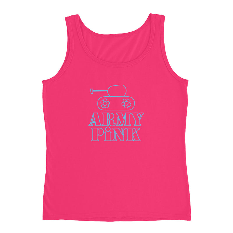 Tank Top with blue logo graphic for 28.00 at ARMY PINK