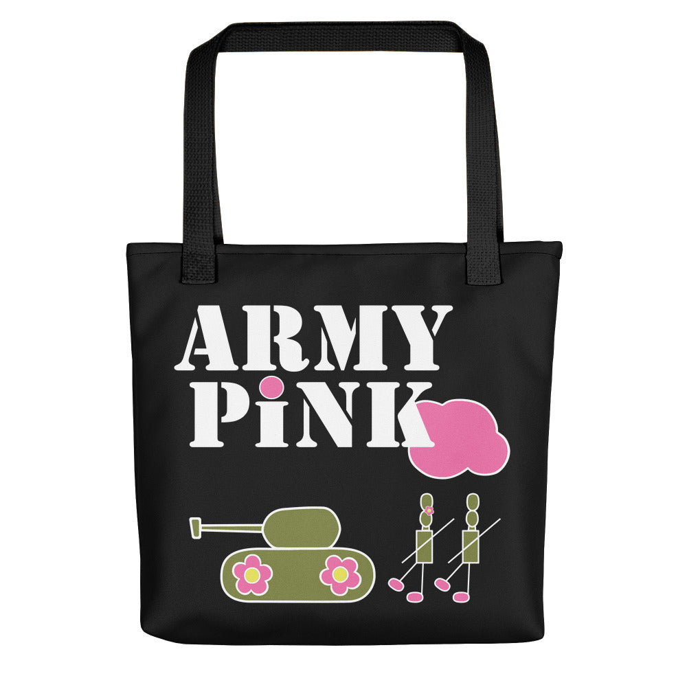 Large Black logo Beach Bag for 35.00 at ARMY PINK