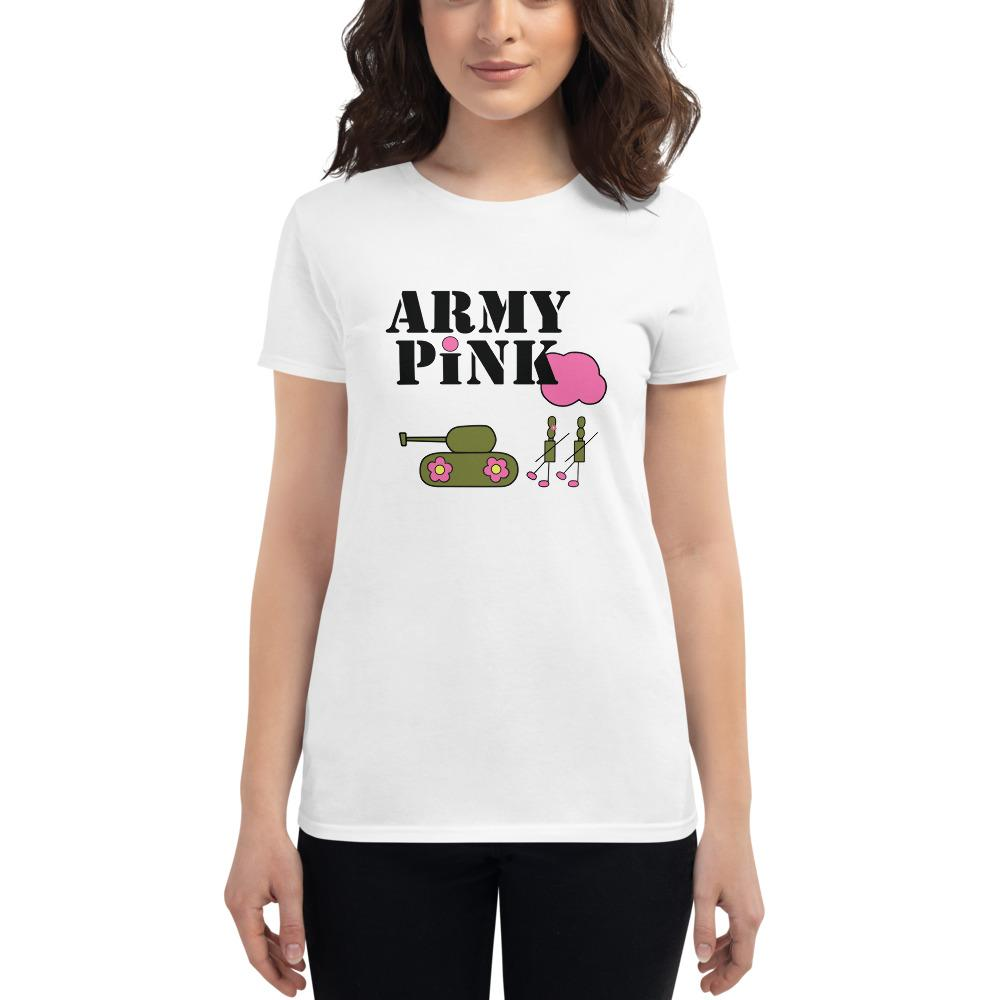 White Logo short sleeve t-shirt for 24.00 at ARMY PINK
