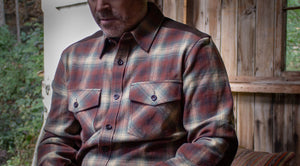 Rustic Cotton Flannel Shirt with Moleskin