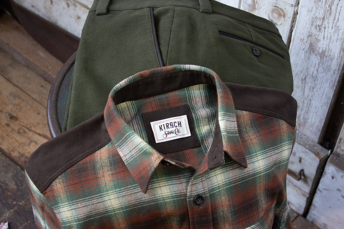 Kirsch Supply Co Meriwether Moleskin Flannel Shirt on Chair