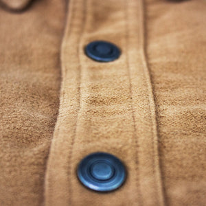 Kirsch Supply Co Cody Western Style Moleskin Shirt Close Up of Center Placket