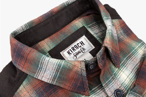 Kirsch Supply Co Meriwether Moleskin Flannel Shirt Collar Angle