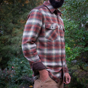 Kirsch Supply Co Meriwether Moleskin Flannel Shirt Model Side