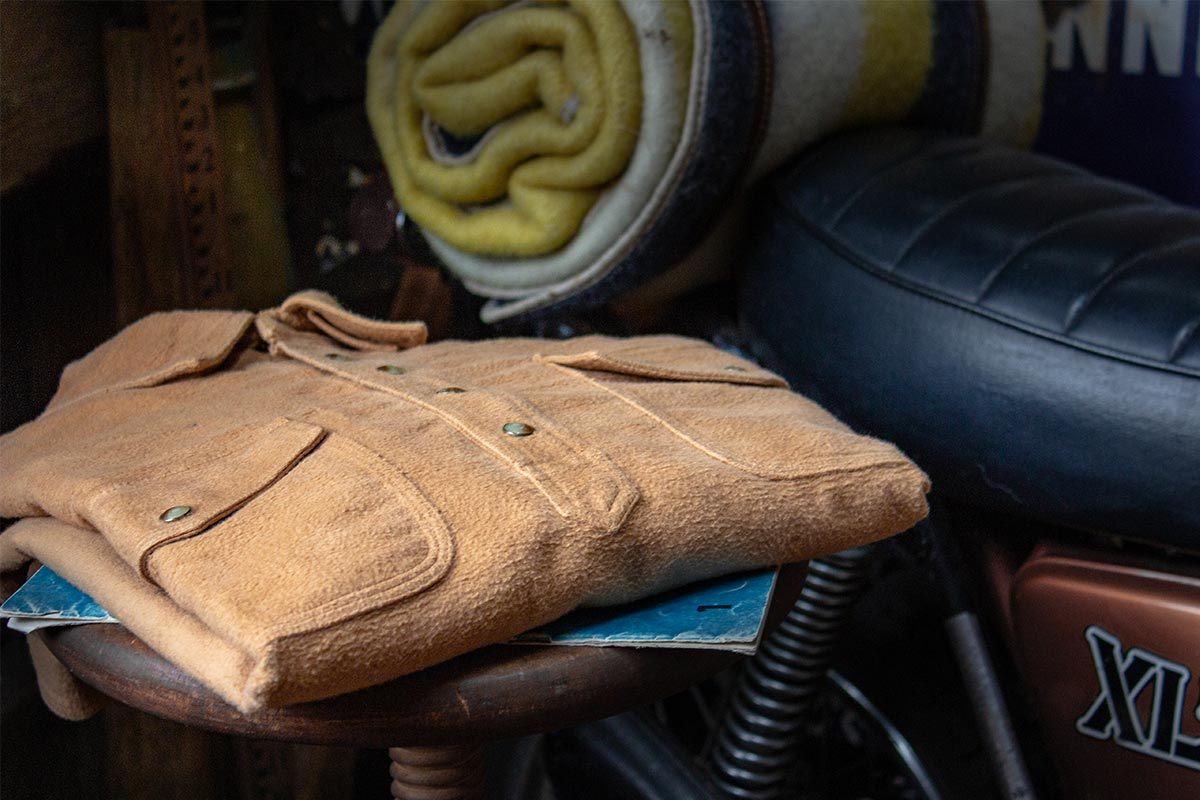 Kirsch Supply Co Plains Moleskin Shirt On Motorcycle