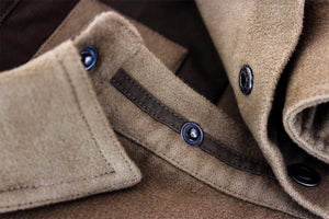 Kirsch Supply Co Rivet Moleskin Popover Shirt Collar Closeup