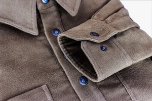 Kirsch Supply Co Rivet Moleskin Popover Shirt Cuff Detail