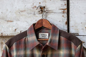 The Meriwether Moleskin Flannel Shirt Hanging in Barn