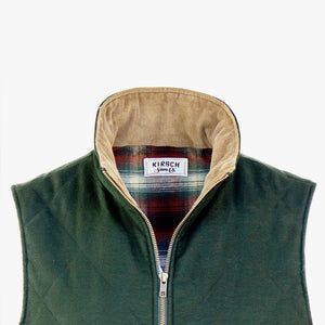 The Dependable Flannel Lined Moleskin Vest Front Close
