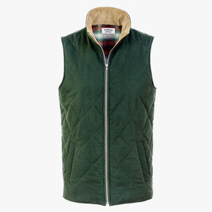 The Dependable Flannel Lined Moleskin Vest Front