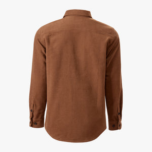 Kirsch Supply Co Leland Moleskin Shirt Brown Back