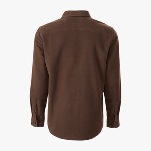 Kirsch Supply Co Leland Moleskin Shirt Dark Brown Back