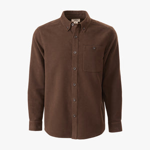 Kirsch Supply Co Leland Moleskin Shirt Dark Brown Front