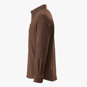 Kirsch Supply Co Leland Moleskin Shirt Dark Brown Side
