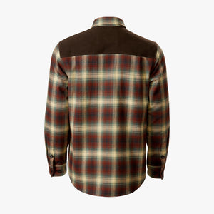Kirsch Supply Co Meriwether Moleskin Flannel Shirt Rust Brown Multi Back