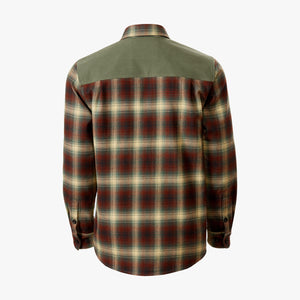 Kirsch Supply Co Meriwether Moleskin Flannel Shirt Rust Olive Multi Back