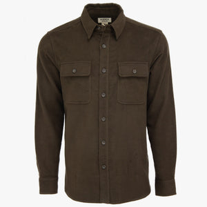 Kirsch Supply Co Plains Stretch Moleskin Shirt Umber Front