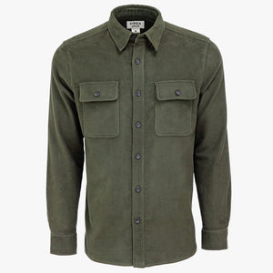 Kirsch Supply Co Plains Stretch Moleskin Shirt Olive Front