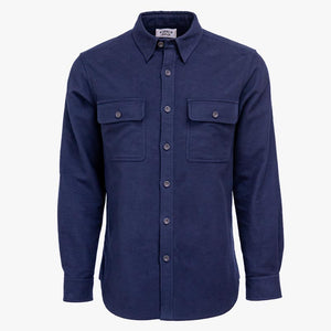 Kirsch Supply Co Plains Stretch Moleskin Shirt Navy Front