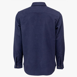 Kirsch Supply Co Plains Stretch Moleskin Shirt Navy Rear