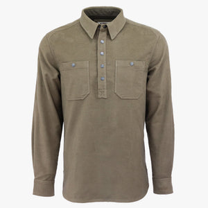 Kirsch Supply Co Rivet Moleskin Popover Shirt Front