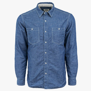 Kirsch Supply Co Shackleton Moleskin Lined Denim Shirt Jacket Front