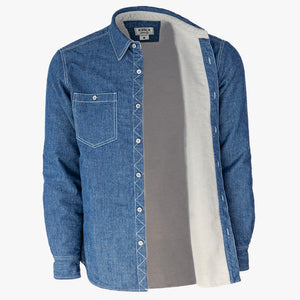 Kirsch Supply Co Shackleton Moleskin Lined Denim Shirt Jacket Inside