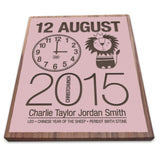 Birth Date With Lion - Personalised Recycled Rimu Wall Art