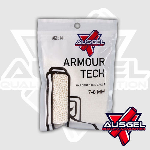 Ausgel Armour Tech  Hardened Gels - White (Milky's) Gel Balls 7-8 MM