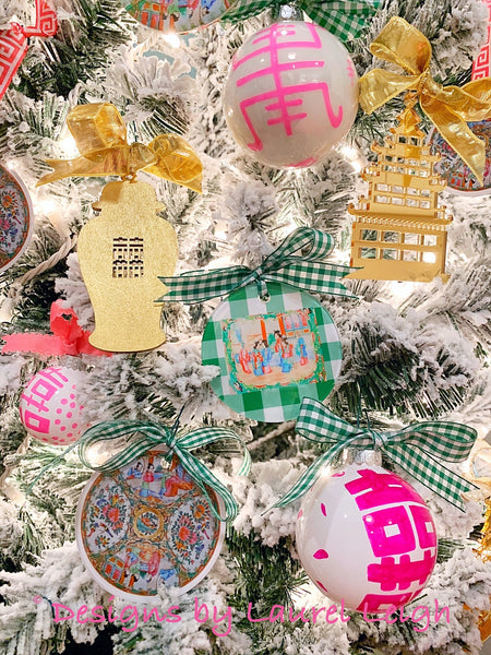 2019 Designs by Laurel Leigh Chinoiserie Chic Christmas Holiday Decor Collection Just Released
