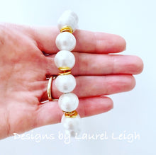 Load image into Gallery viewer, Cotton Pearl Bracelet - Ginger jar
