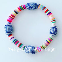 Load image into Gallery viewer, Chinoiserie Multicolored African Heishi Bead Bracelets - 2 Styles