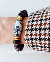 Load image into Gallery viewer, Chinoiserie Beaded Bracelet - Brown - Ginger jar