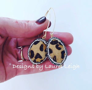 Pavé Leopard Drop Earrings