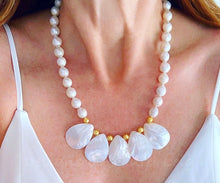Load image into Gallery viewer, Baroque Pearl Statement Necklace - Adjustable - Ginger jar