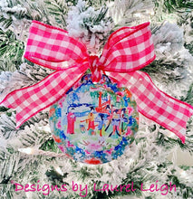 Load image into Gallery viewer, Chinoiserie Christmas Ornament- Colorful Watercolor Art