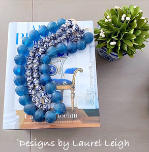 Chinoiserie Dragon Bead Garland Strand / Necklace