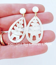 Load image into Gallery viewer, Vintage Mother of Pearl Pagoda Statement Earrings - Posts