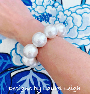 Power Pearl Statement Bracelet - Ginger jar