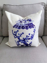 "Load image into Gallery viewer, Chinoiserie Blue and White Ginger Jar Pillow Covers - Set of Two 18x18"" - Ginger jar"