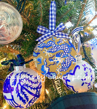 Load image into Gallery viewer, Chinoiserie Dragon Christmas Ornament - Ginger jar