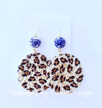 Load image into Gallery viewer, Chinoiserie Animal Print Rattan Earrings - Two Styles - Ginger jar