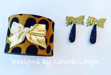 Load image into Gallery viewer, Bow and Animal Print Statement Cuff Bracelet