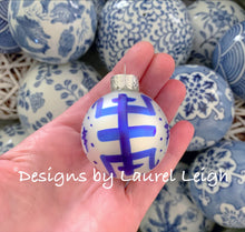 Load image into Gallery viewer, Chinoiserie Christmas Ornament - Mini Size