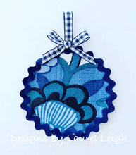 Load image into Gallery viewer, Designer Fabric Ornaments - Blue Schumacher Chiang Mai Dragon