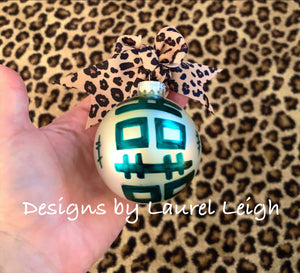 Chinoiserie Double Happiness Christmas Ornament - Matte Finish - Regular Size - Ginger jar