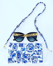 Load image into Gallery viewer, Chinoiserie Ginger Jar Gemstone Eyeglass / Sunglass / Mask Holder / Lanyard Chain / Necklace