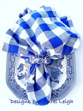 Load image into Gallery viewer, Chinoiserie Beaded Napkin Rings - Royal Blue/White/Blue